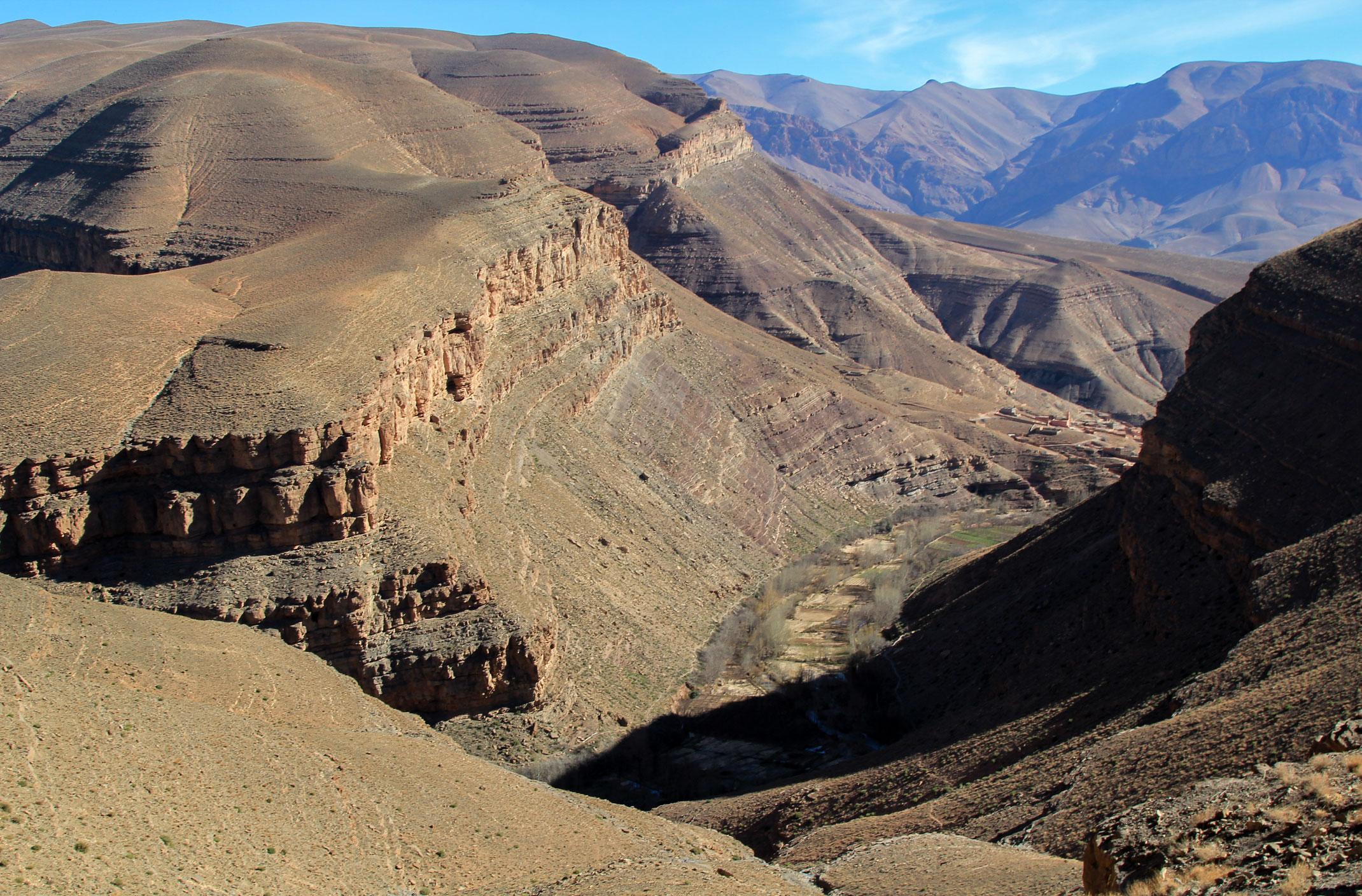 Maroko.Za wąwozem Todra
