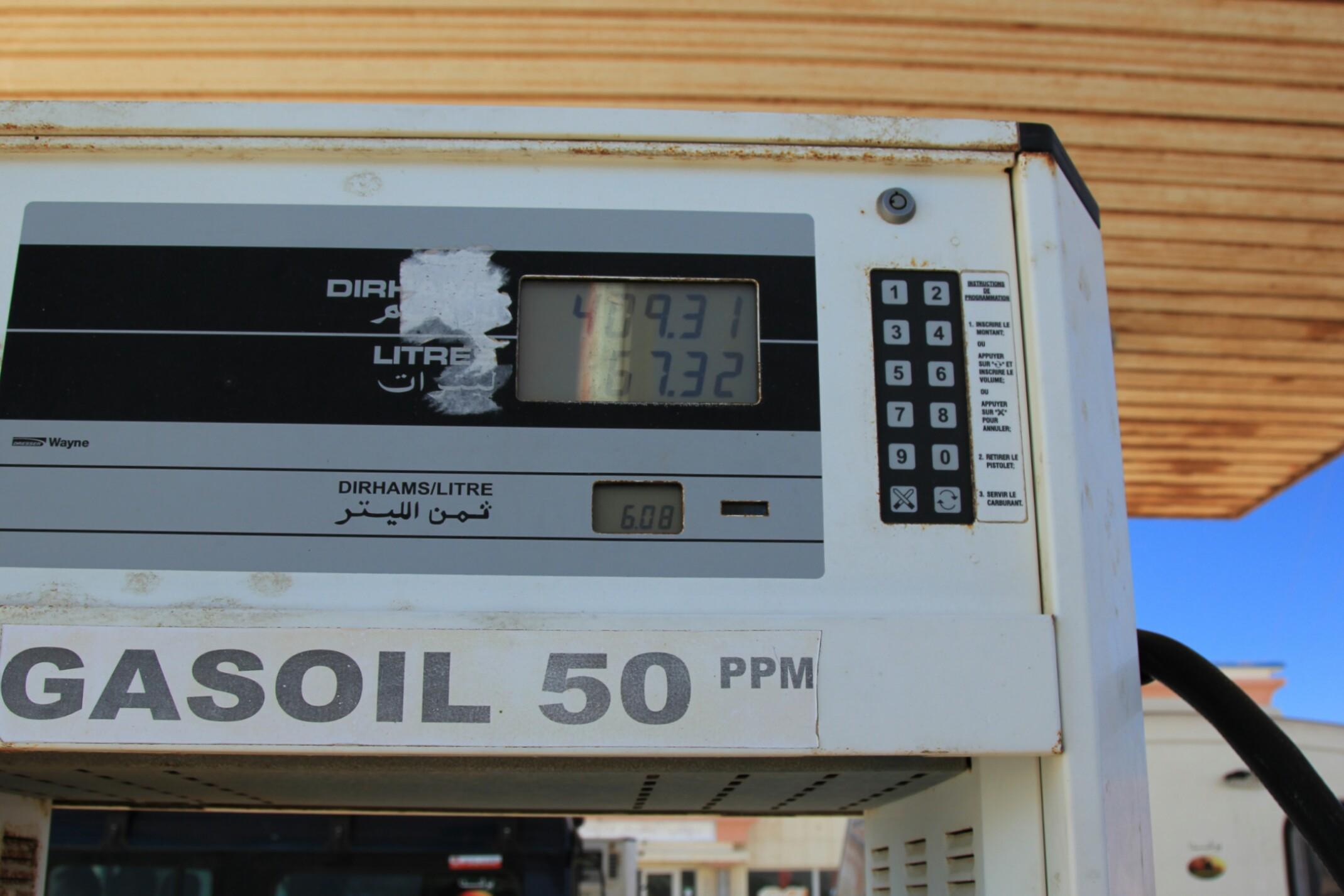 Sahara Zachodnia.Cena paliwa.
