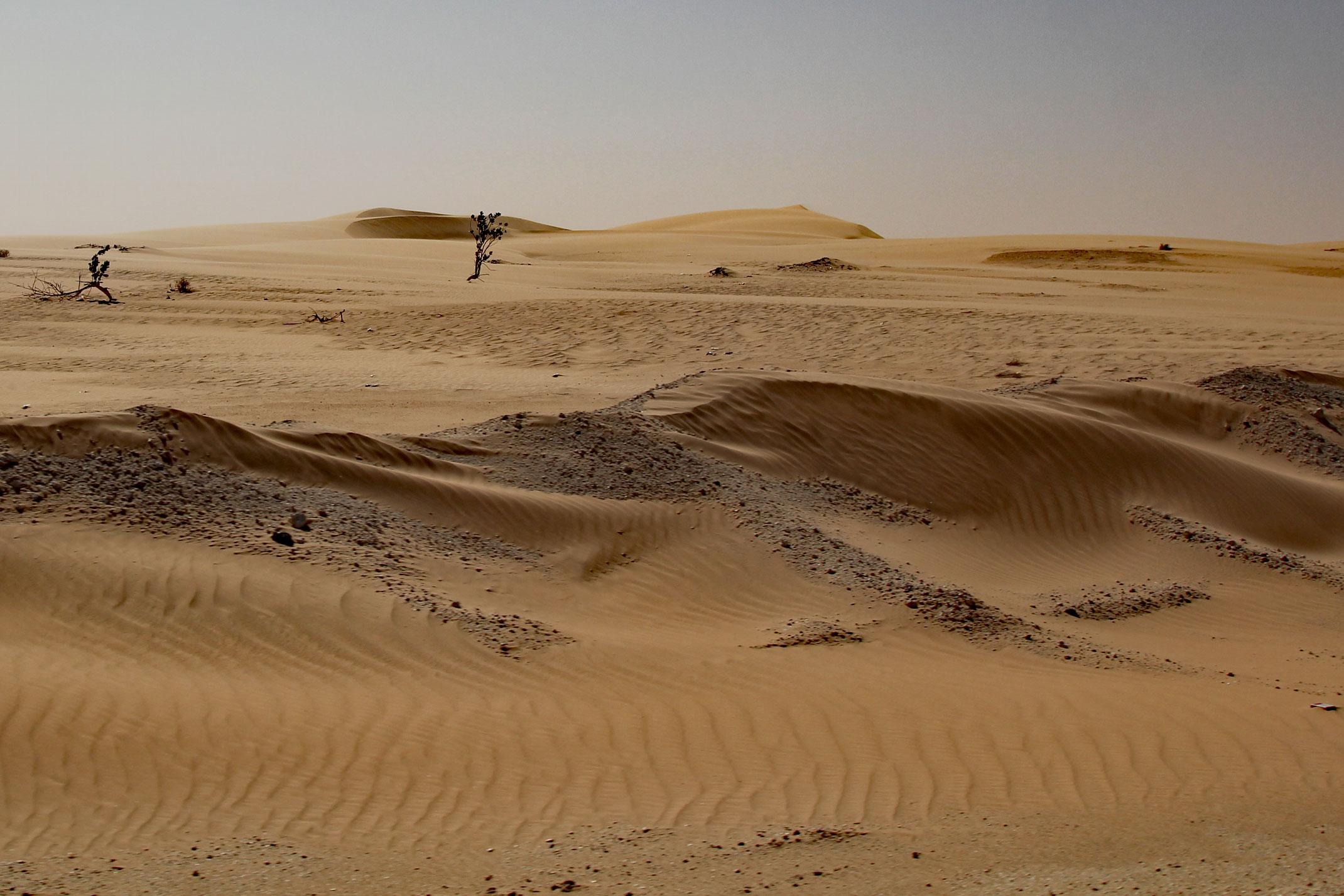 Mauretania.Piaskowe zaspy.