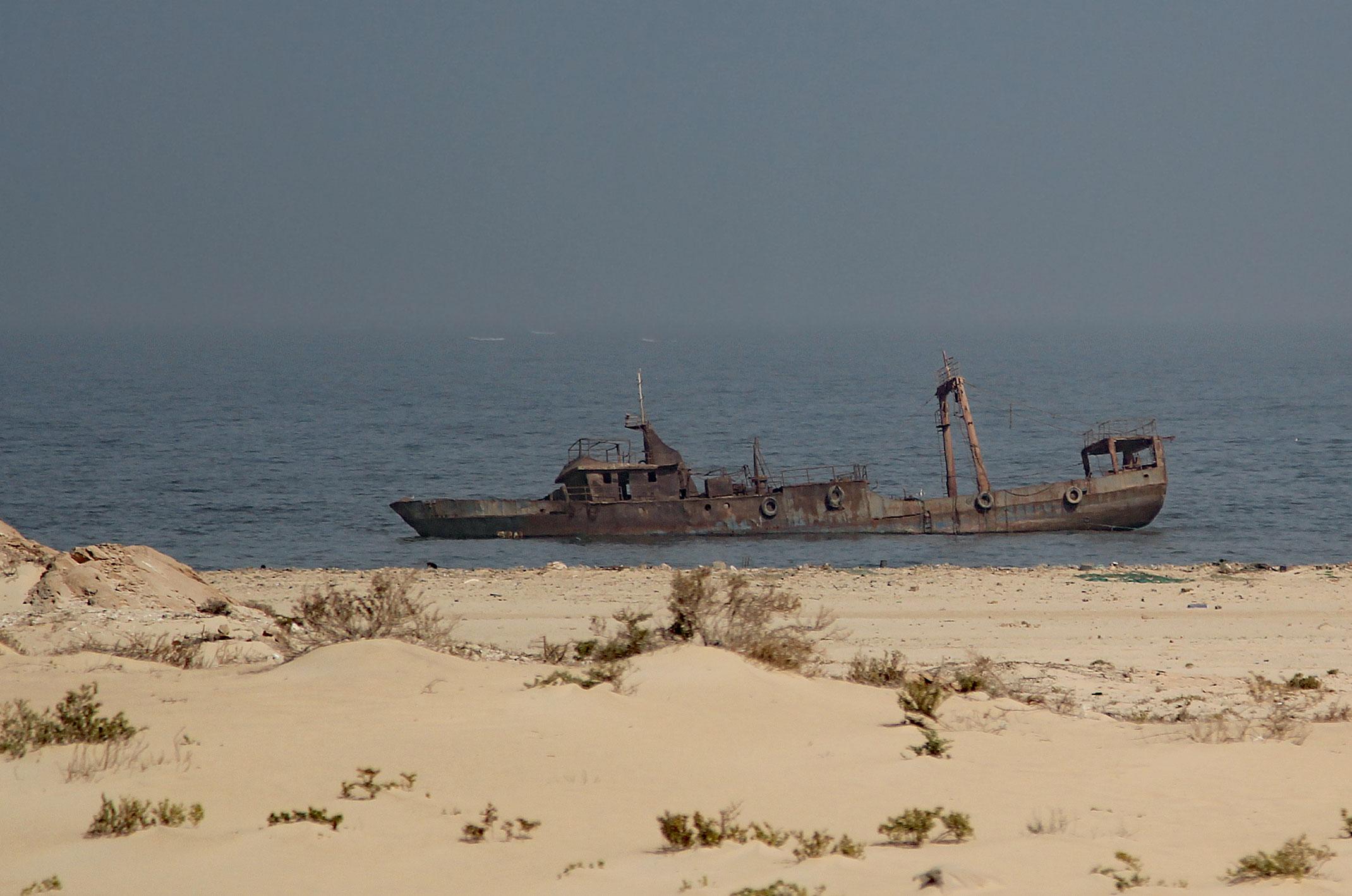 Mauretania.Cmentarzysko wraków