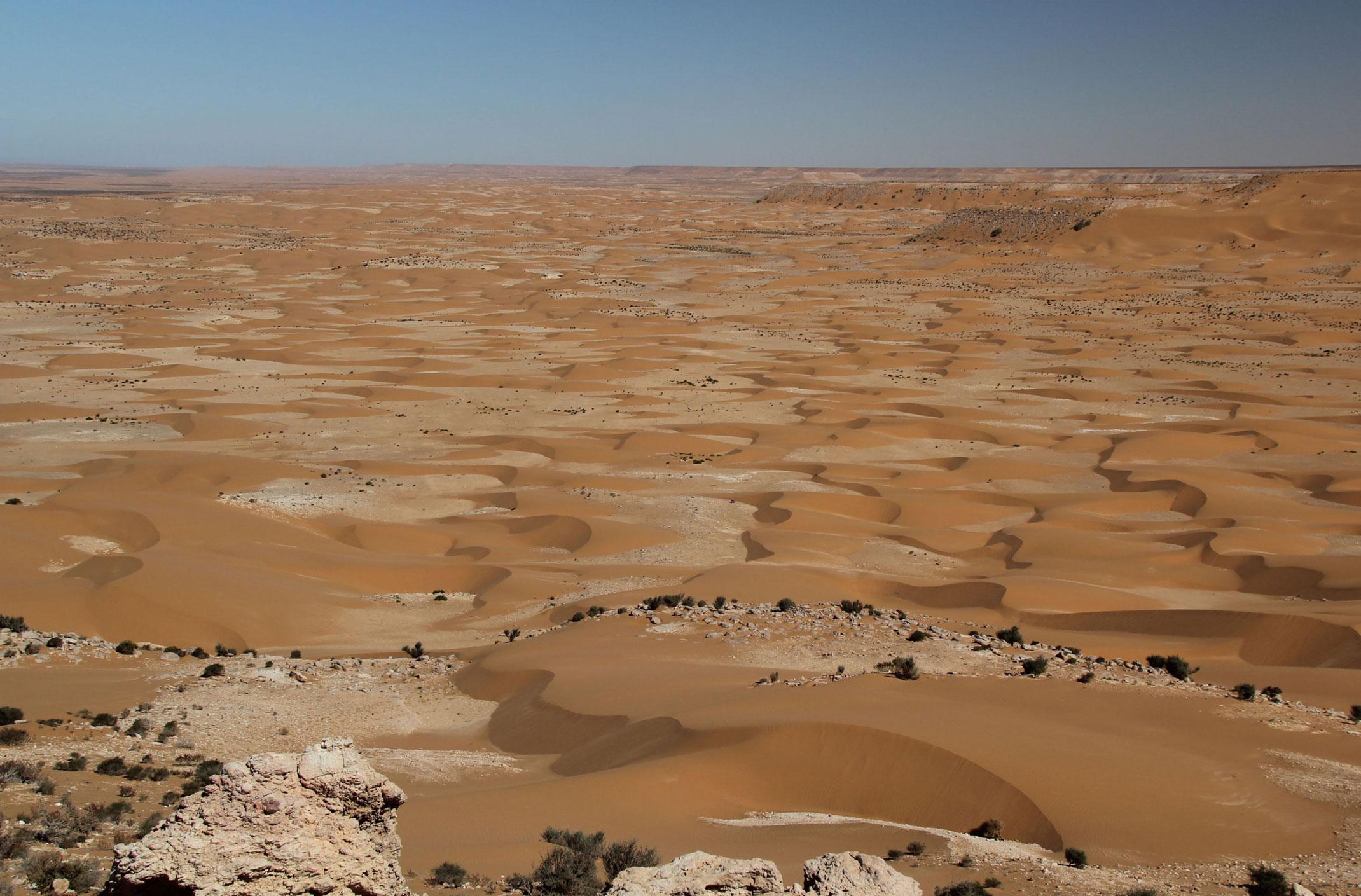 Sahara Zachodnia .Widok z klifu