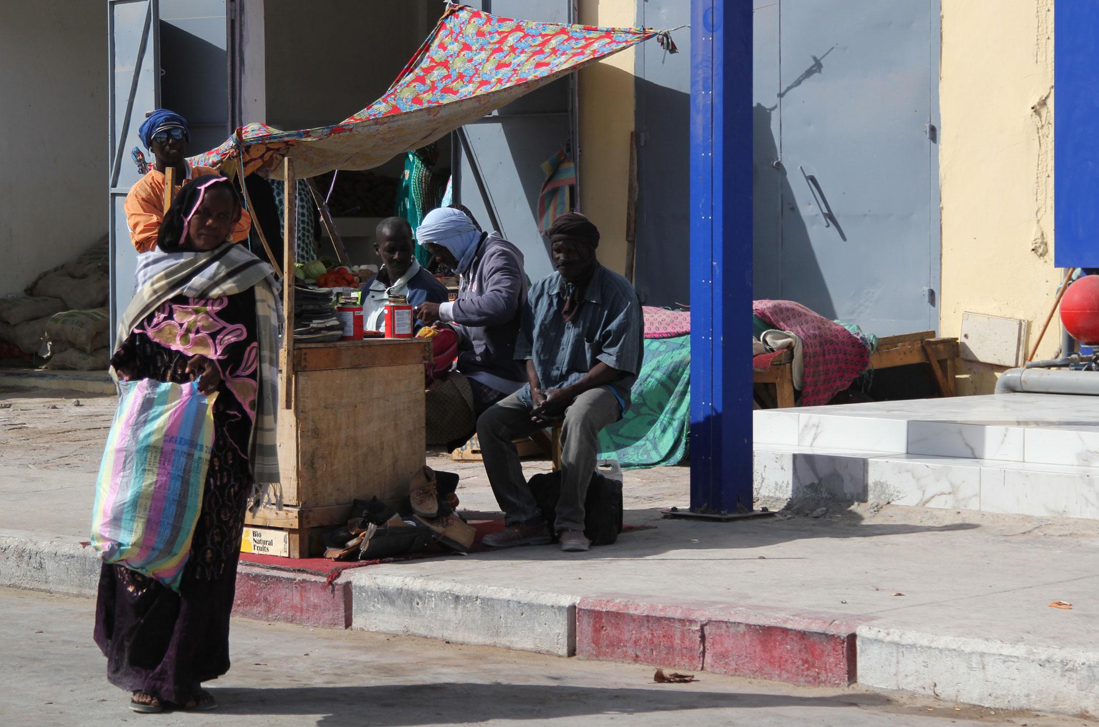 Mauretania.Ulice Nouadhibou