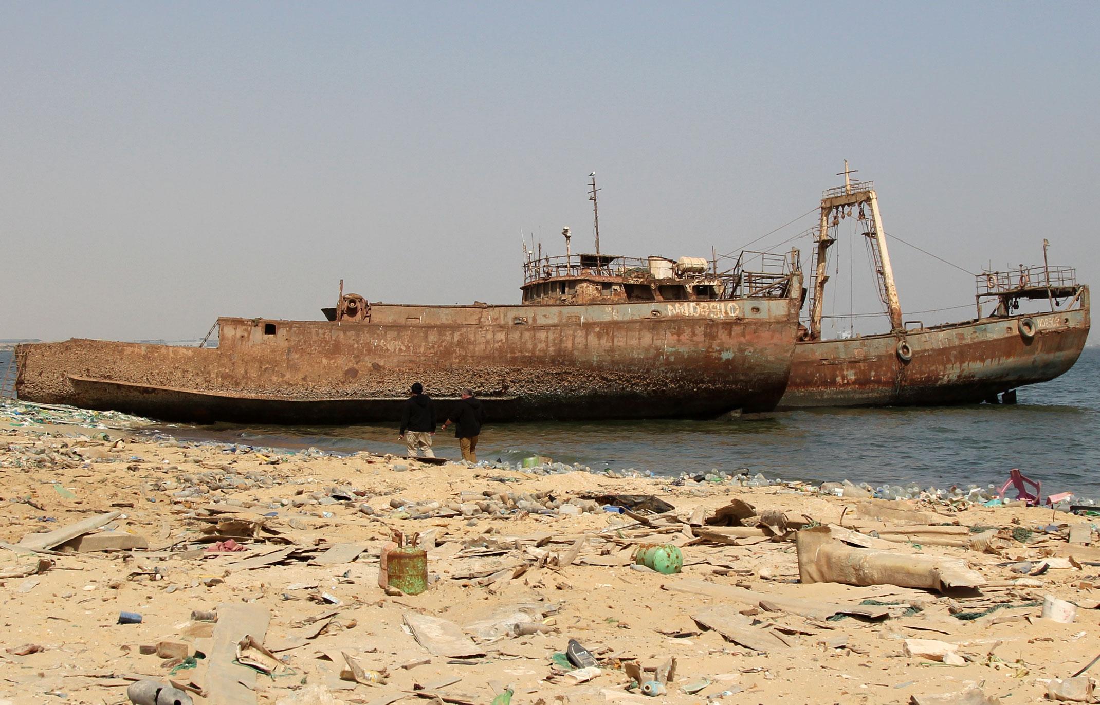 Mauretania.Cmentarzysko statków czyli zatoka wraków