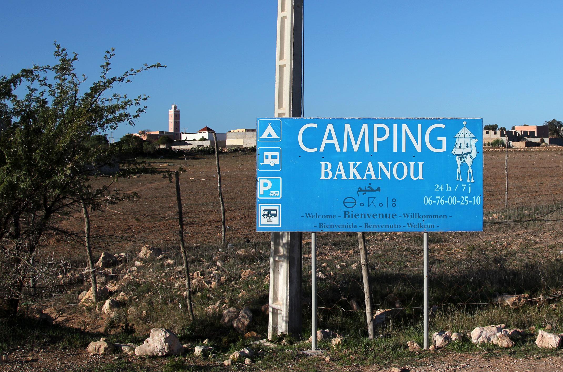 Kamping w okolicy Agadiru
