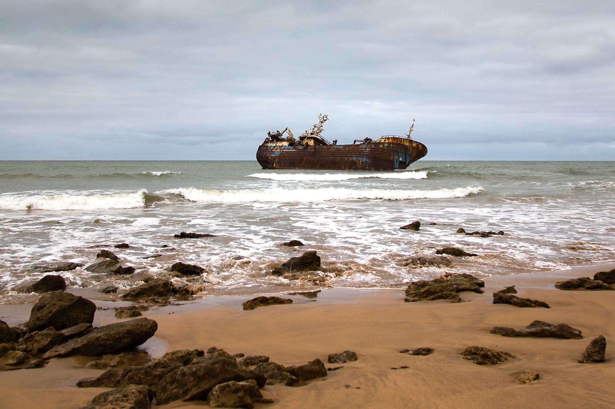 Wrak statku w Maroku