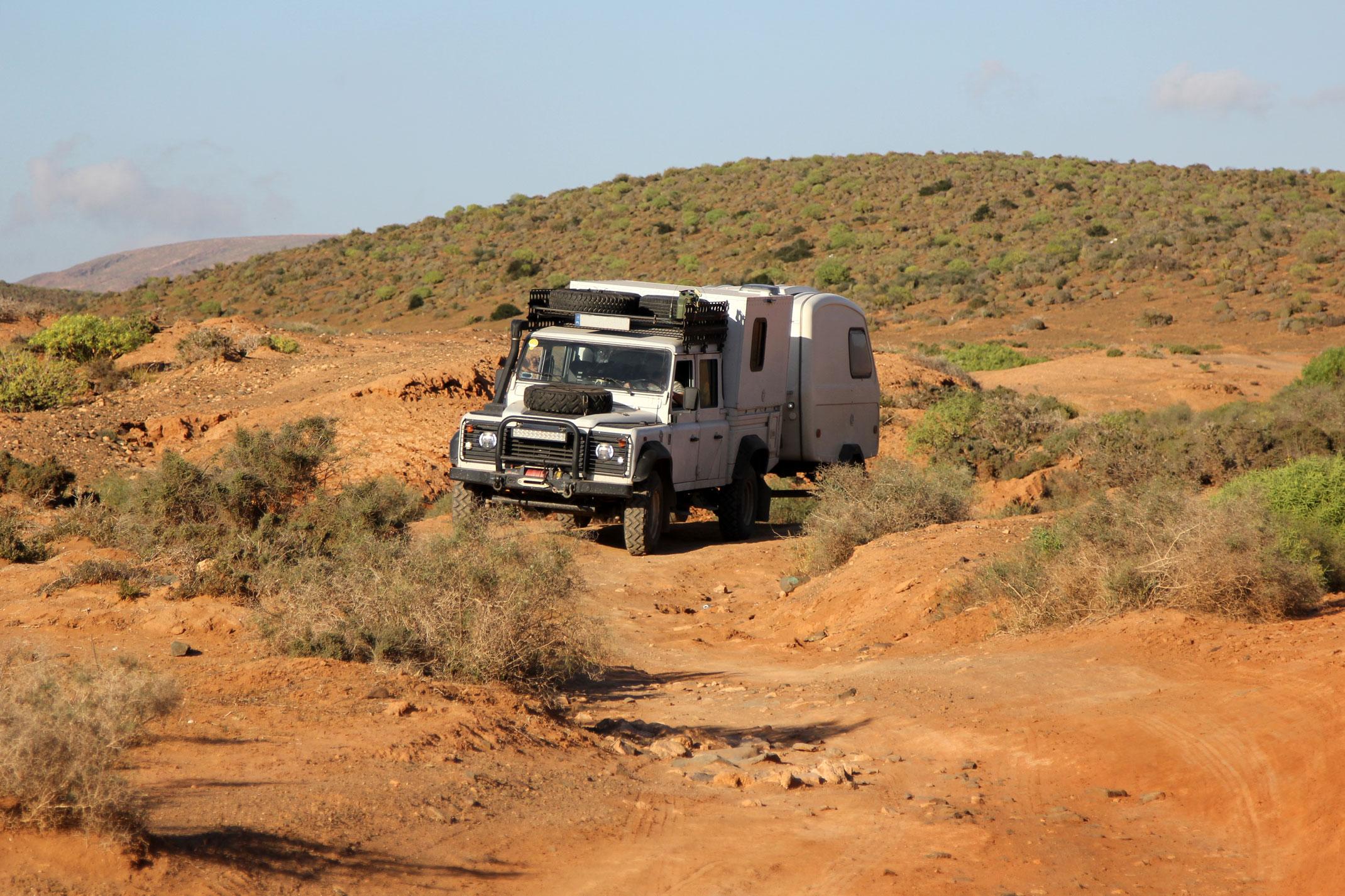 Droga dojazdowa do Fort Bou Jerif,szlak 4x4