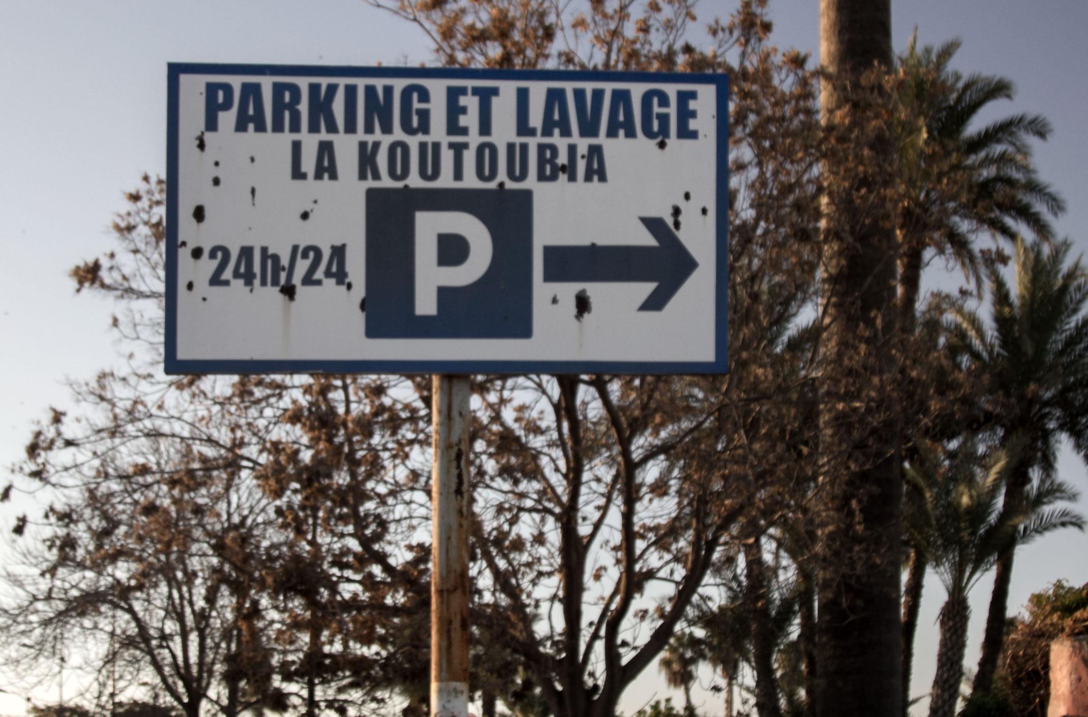 Parking Et Lavage La Koutoubia, Marakesz, Maroko