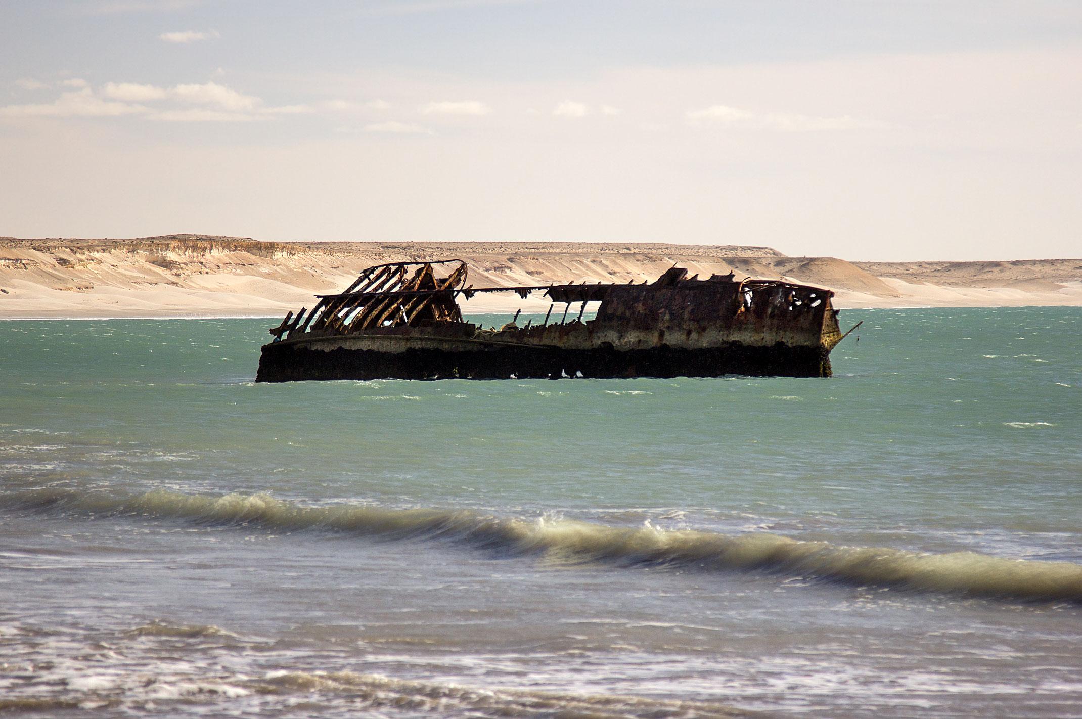 Maroko,wrak statku