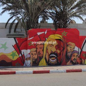 Zielony Marsz na muralu - Blog podróżniczy - PIES PUSTYNI