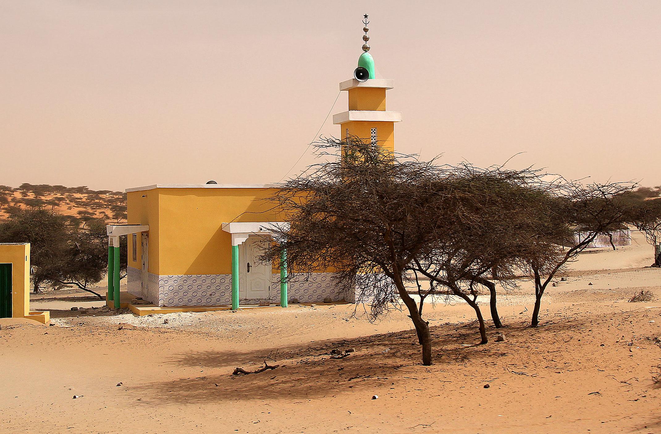 Mauretania.Meczet w wiosce