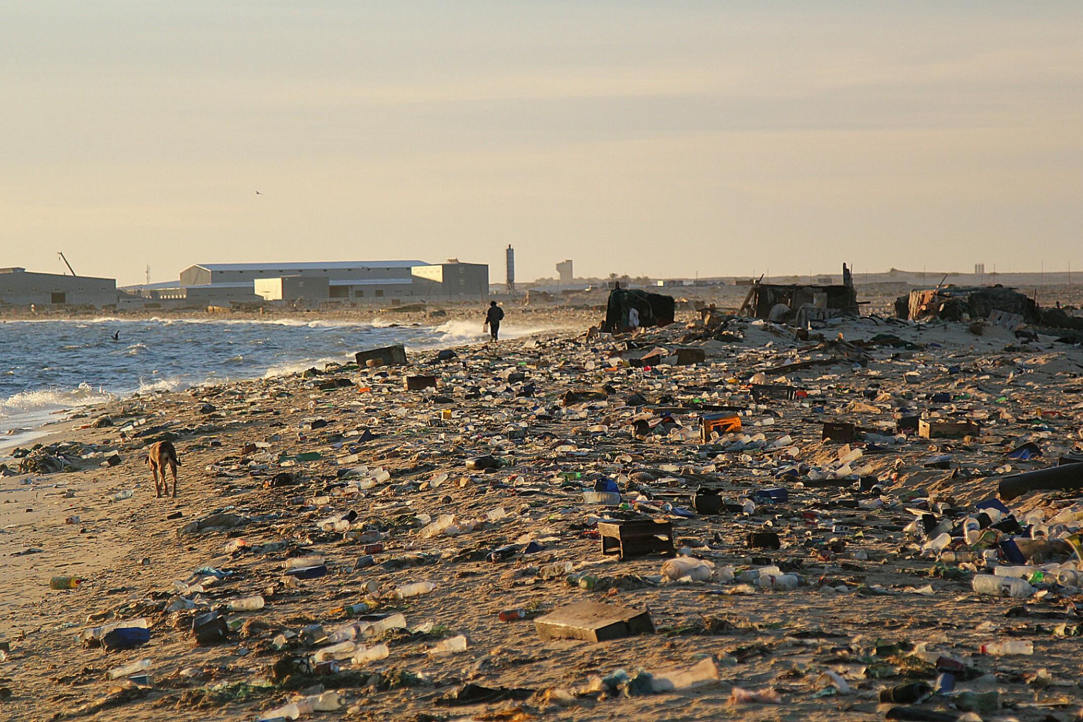 Mauretania.Nouadhibou, cmentarzysko wraków