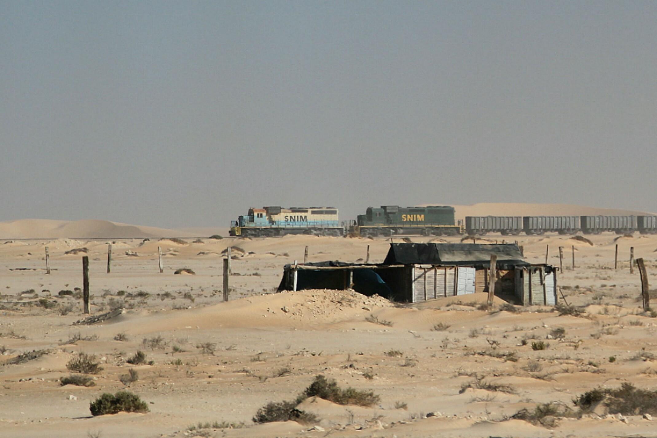 Mauretania.Najdłuższy pociąg świata.