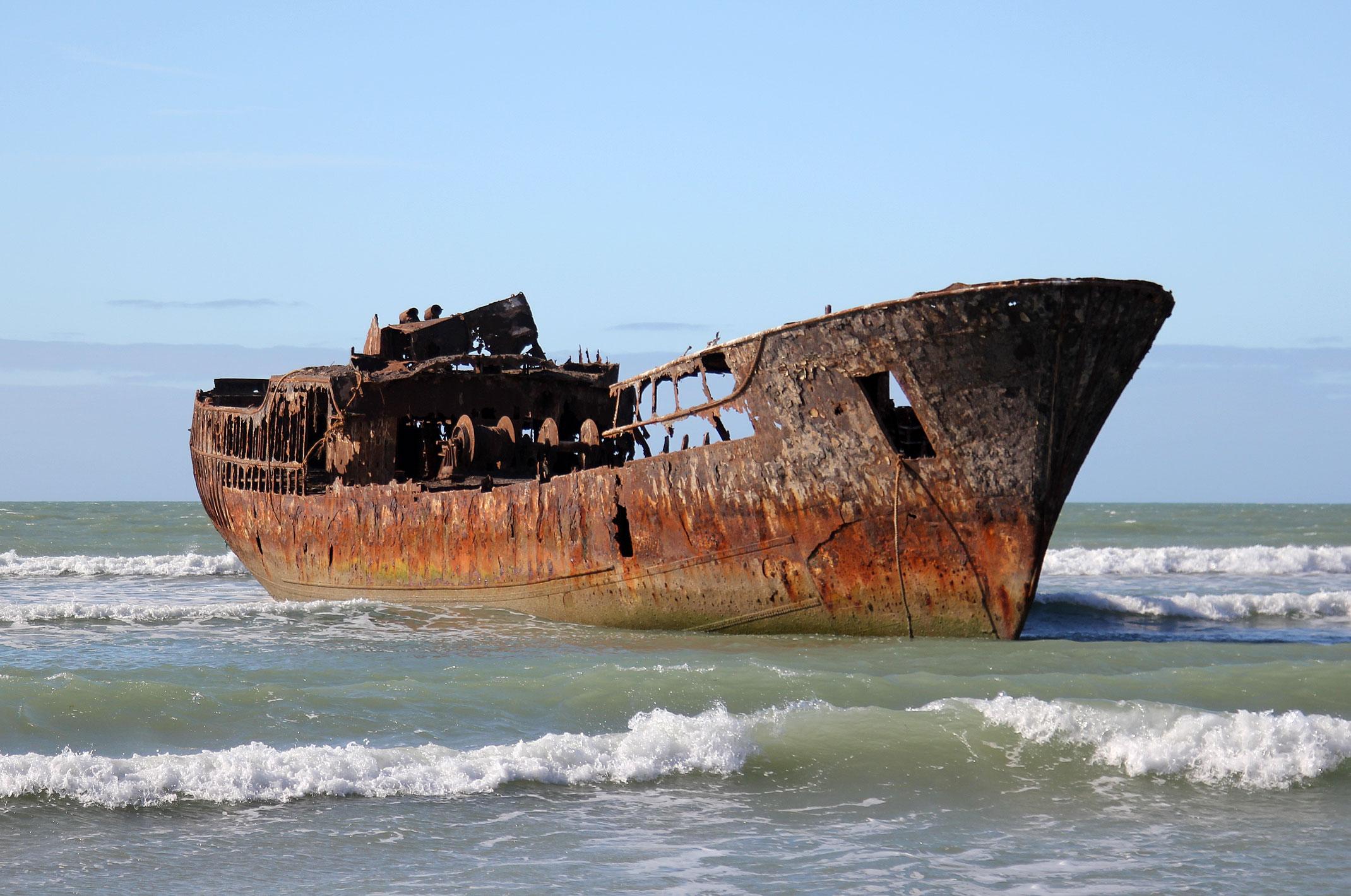 Maroko.Wrak statku.