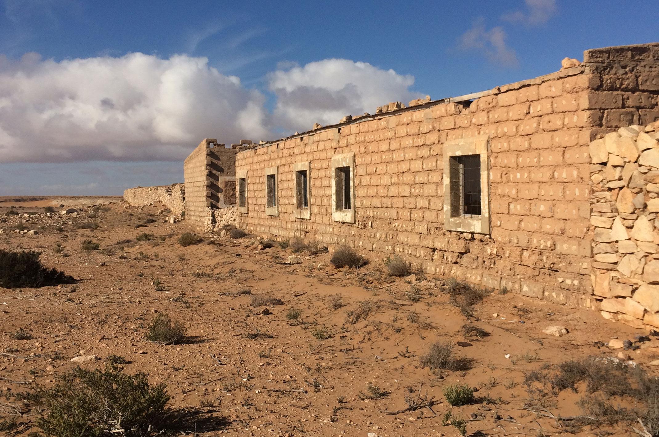 Stary Fort El-Hagounia.Sahara Zachodnia.Maroko
