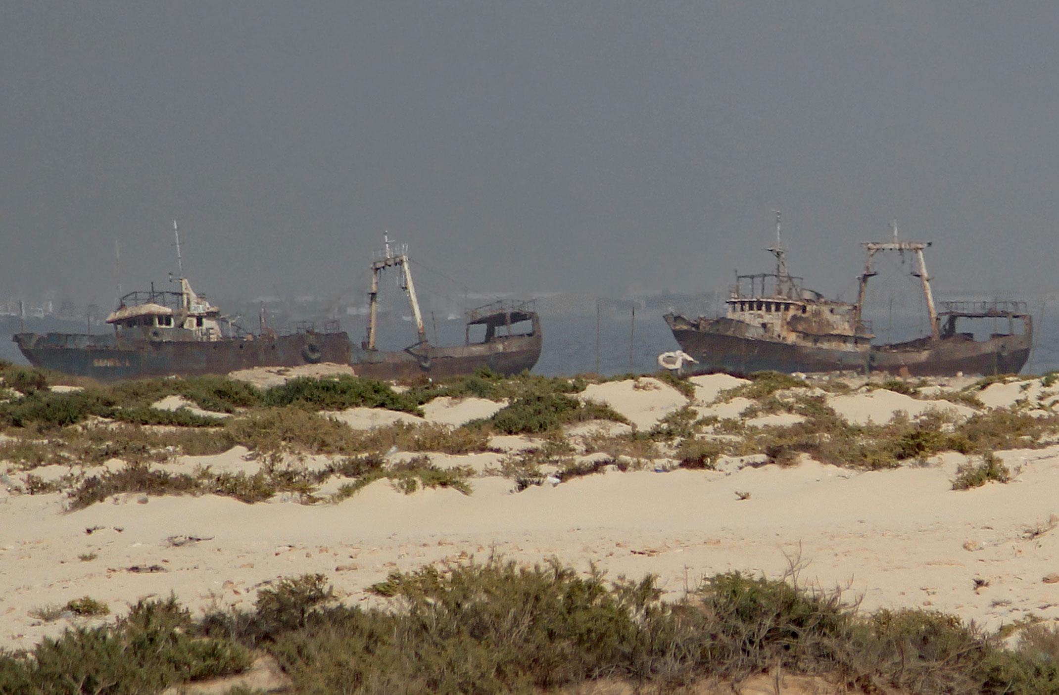 Mauretania.Cmentarzysko statków