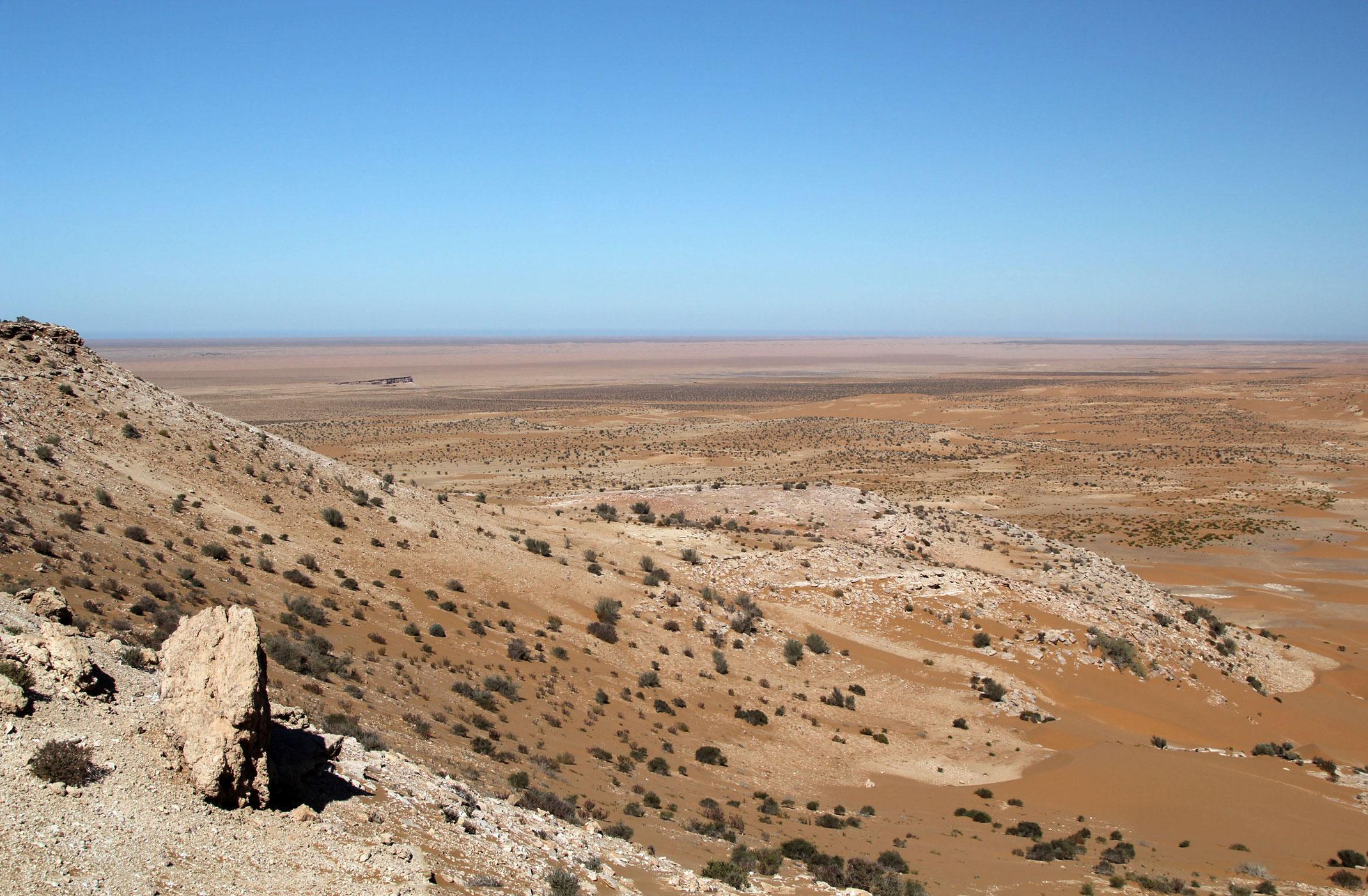 Sahara Zachodnia.Widok z klifu
