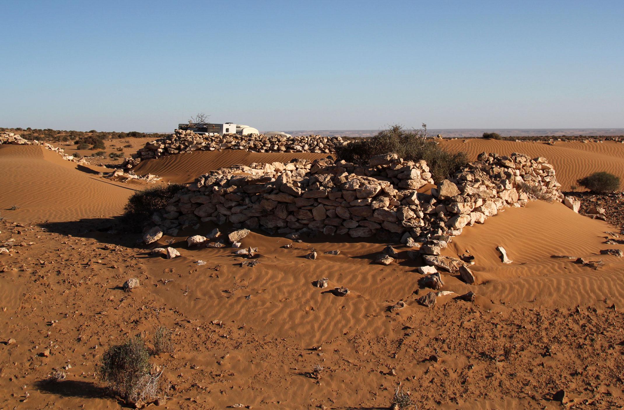 Sahara Zachodnia.Fort na klifie