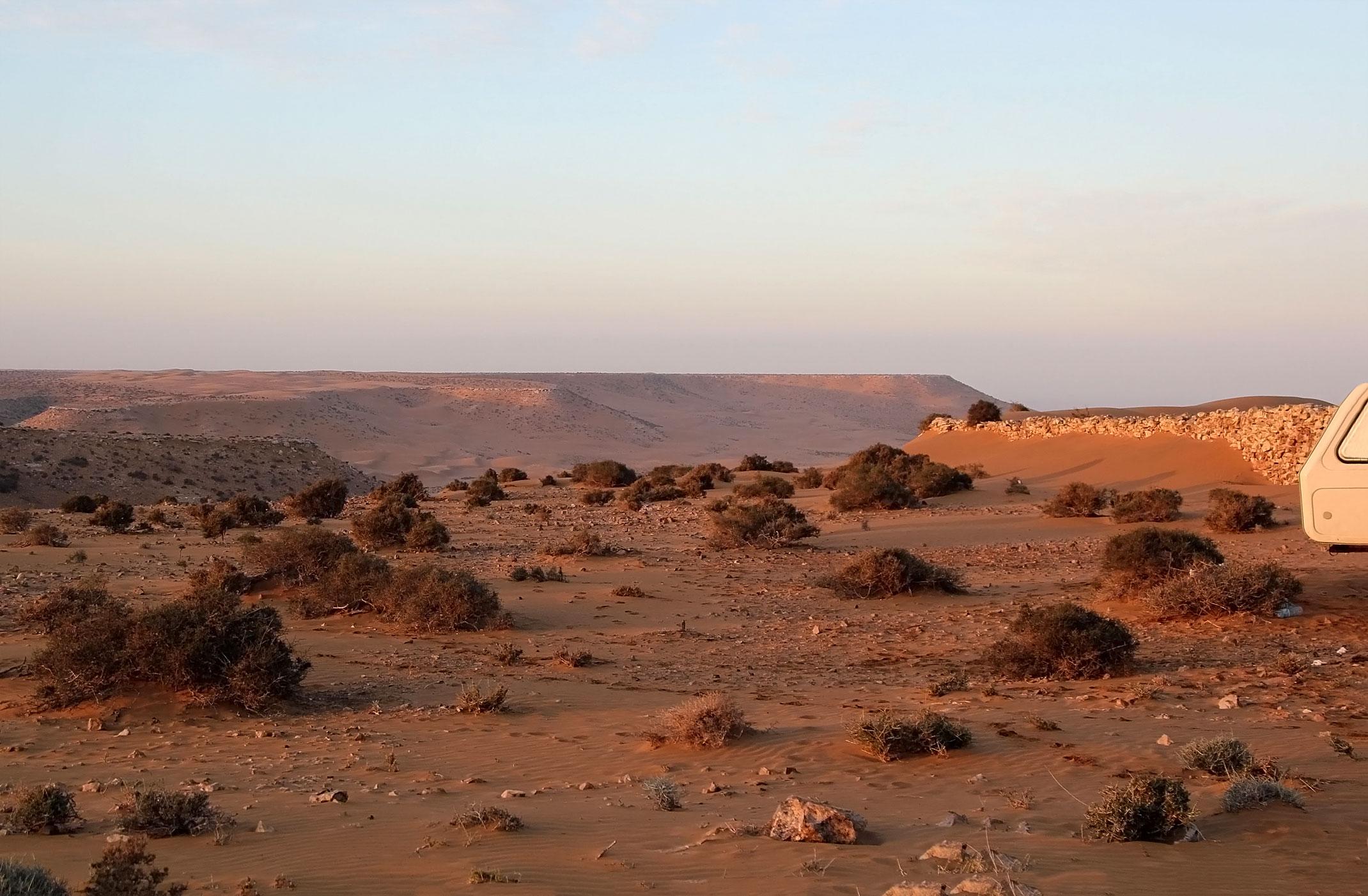 Sahara Zachodnia.Nocleg na pustyni