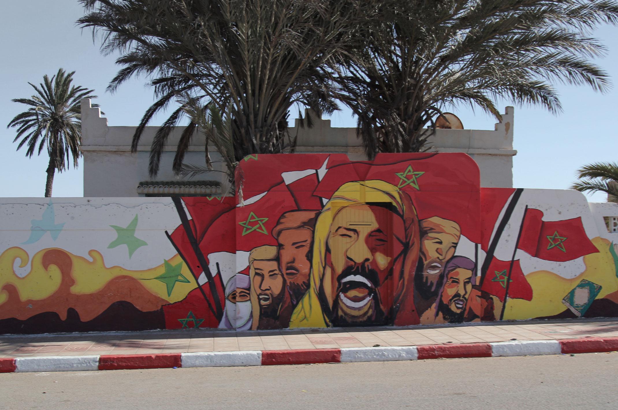 Mural Zielony Marsz