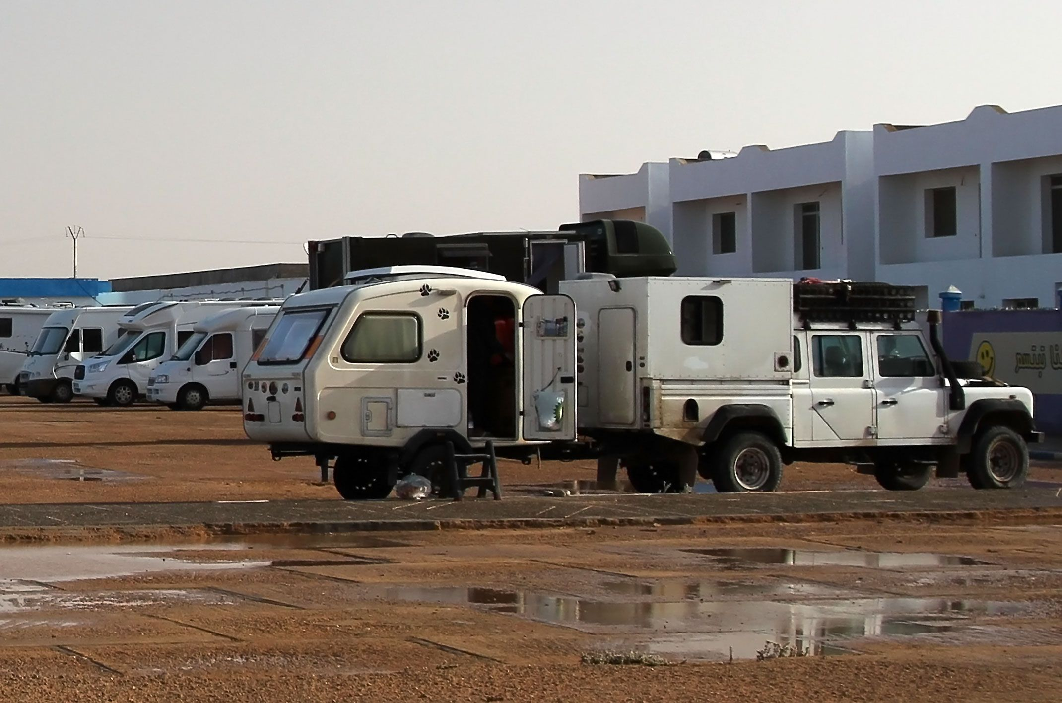 Laayoune.Parking przy plaży