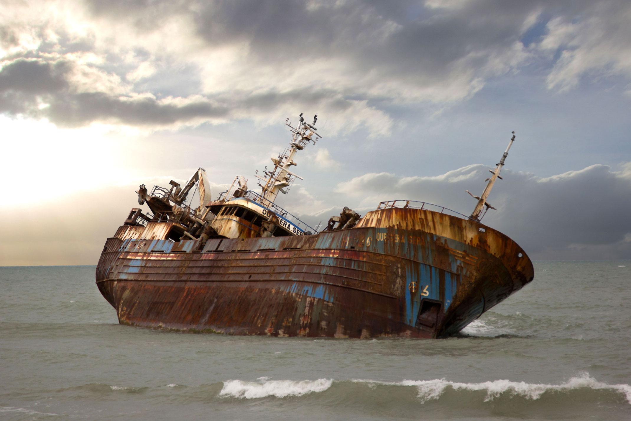 QUE SERA SERA,wrak statku w Maroku