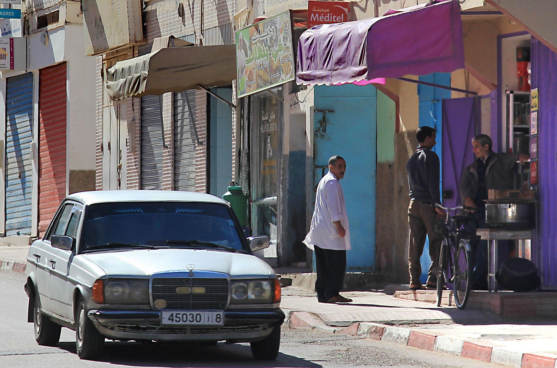 Maroko.Uliczka małego miasteczka