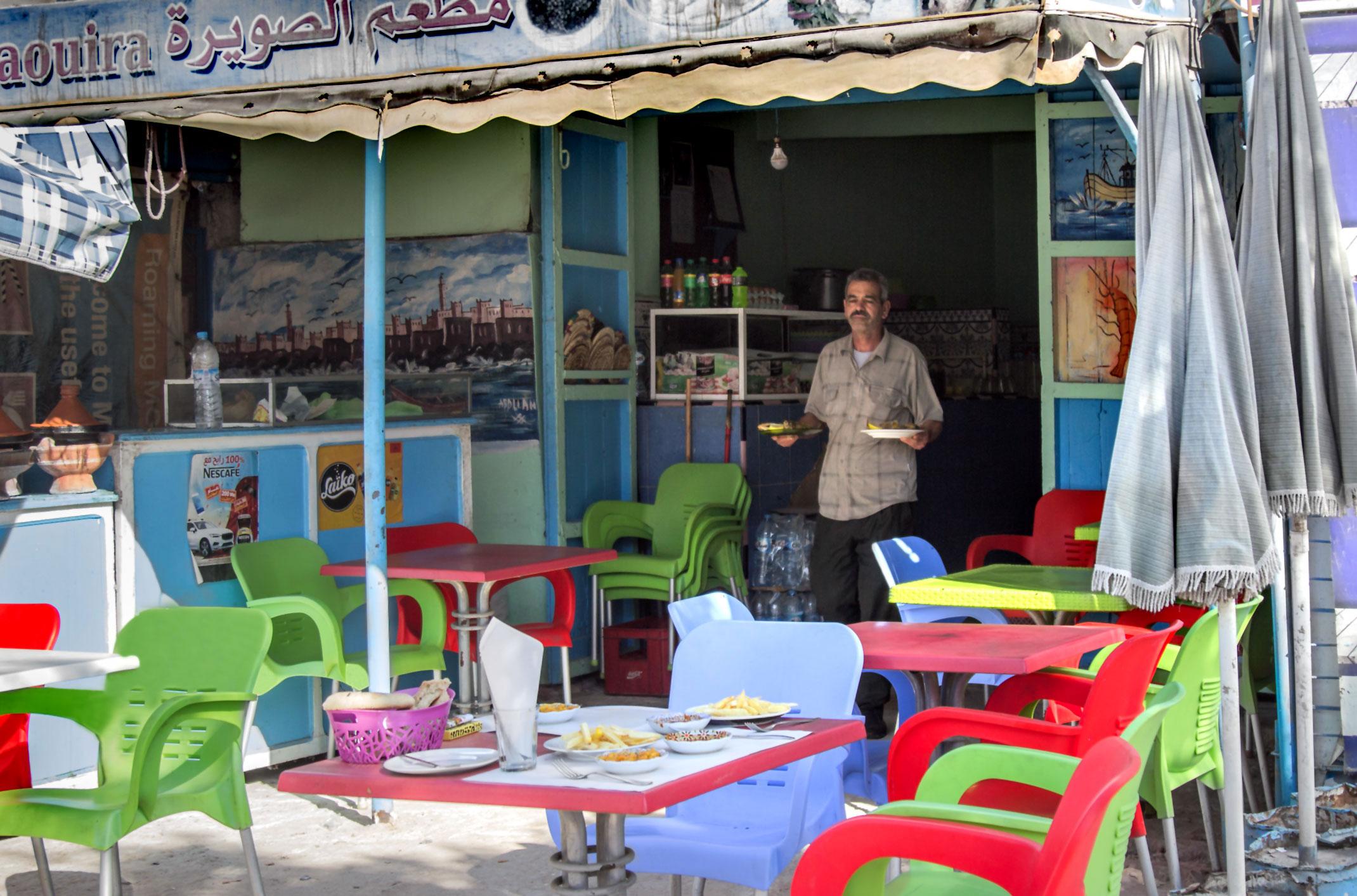Tarfaya.Mała restauracja.