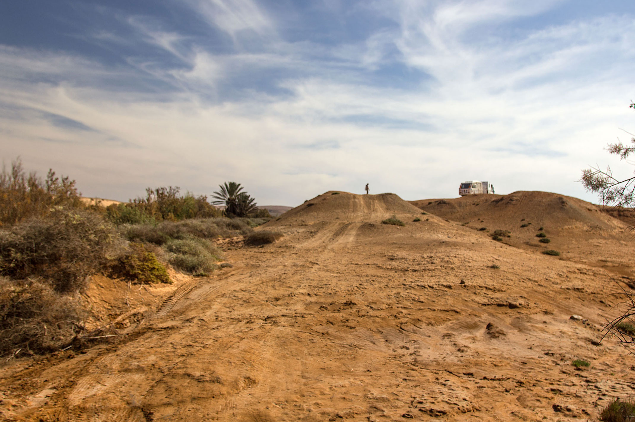 Dojazd do fortu w Aoreora.Maroko