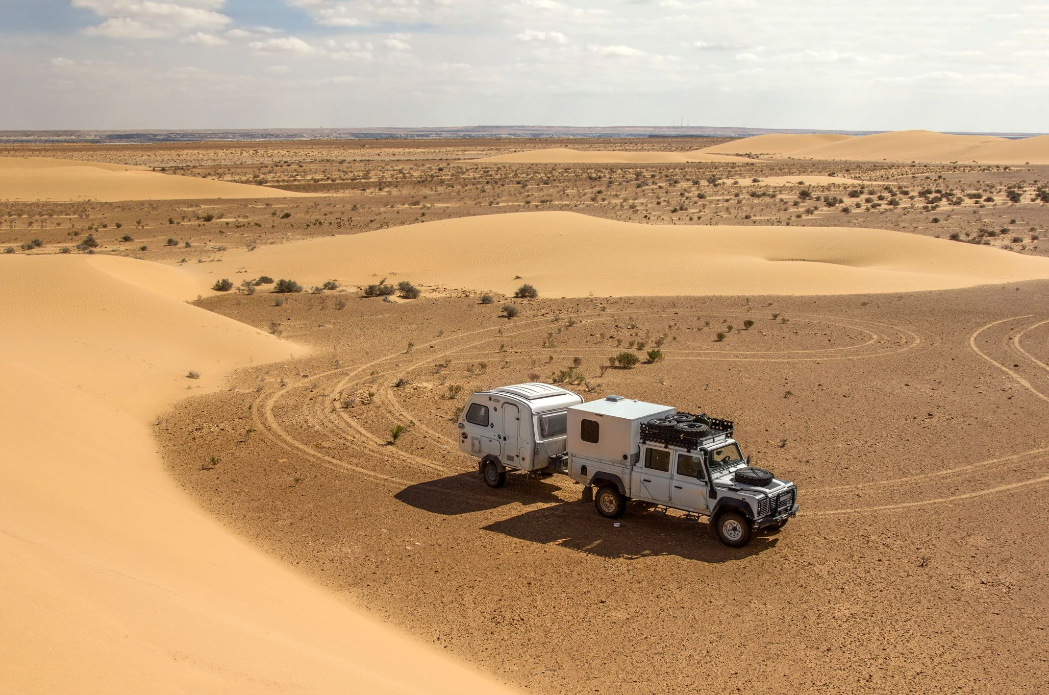 Defender na pustyni