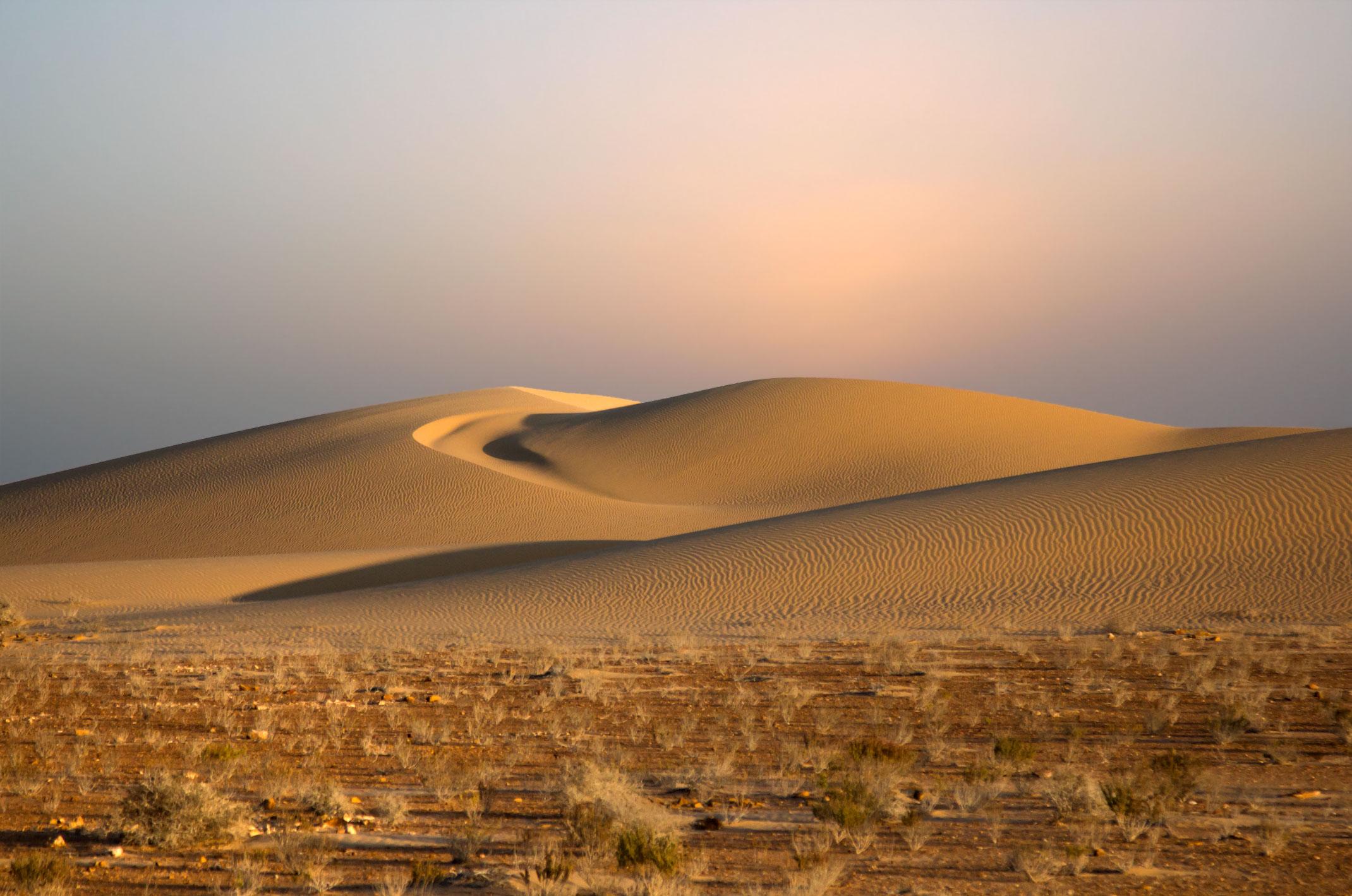 Maroko,Sahara Zachodnia,słońce w zenicie.