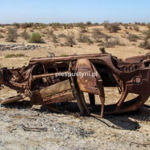 Wrak samochodu w Mauretanii - Blog podróżniczy - PIES PUSTYNI