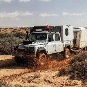 Land Rover Defender 130 – po kałużach - Blog podróżniczy - PIES PUSTYNI