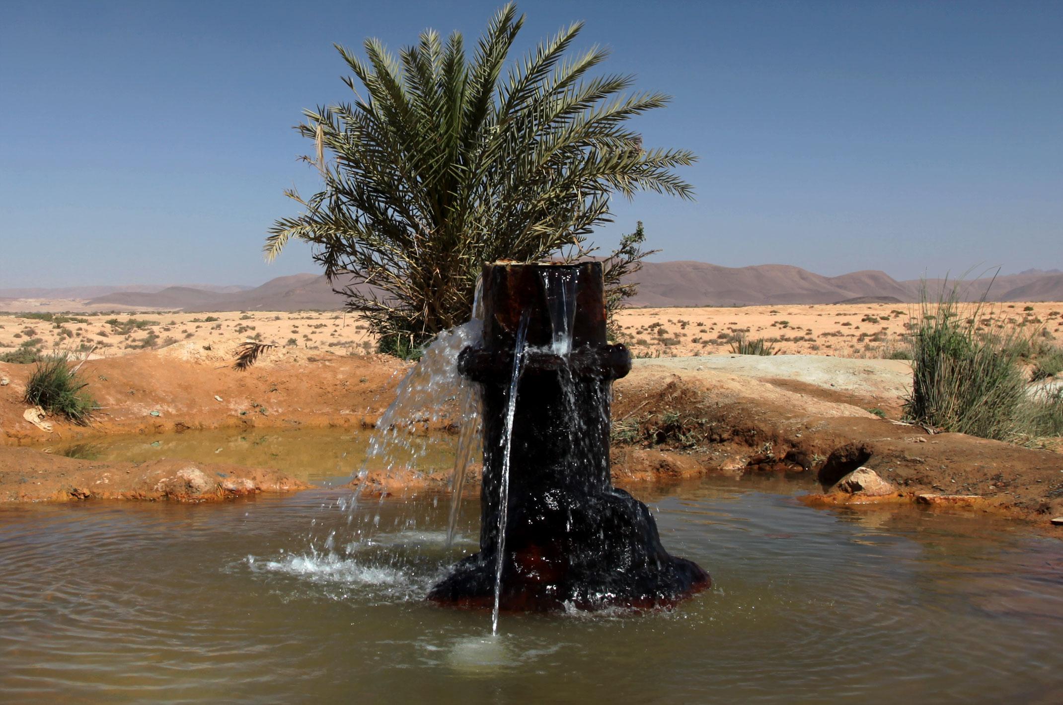 sources d'eau chaude fask