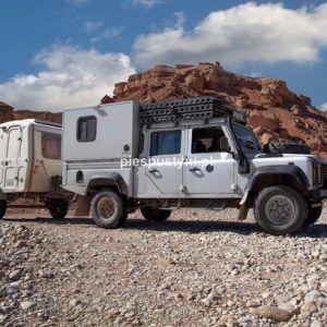 Land Rover Defender 130  nad ouedem Azinous 7 - Blog podróżniczy - PIES PUSTYNI